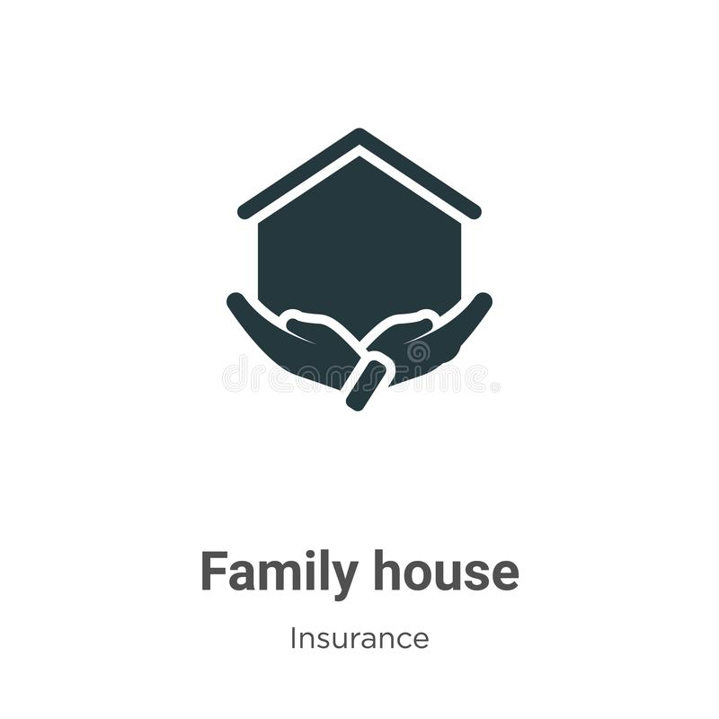 Family house vector icon on white background. Flat vector family house icon symbol sign from modern insurance collection for stock illustration