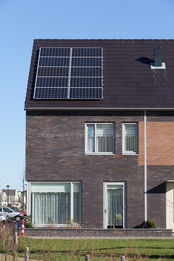 Free Family House With Solar Panels Stock Images - 67975044