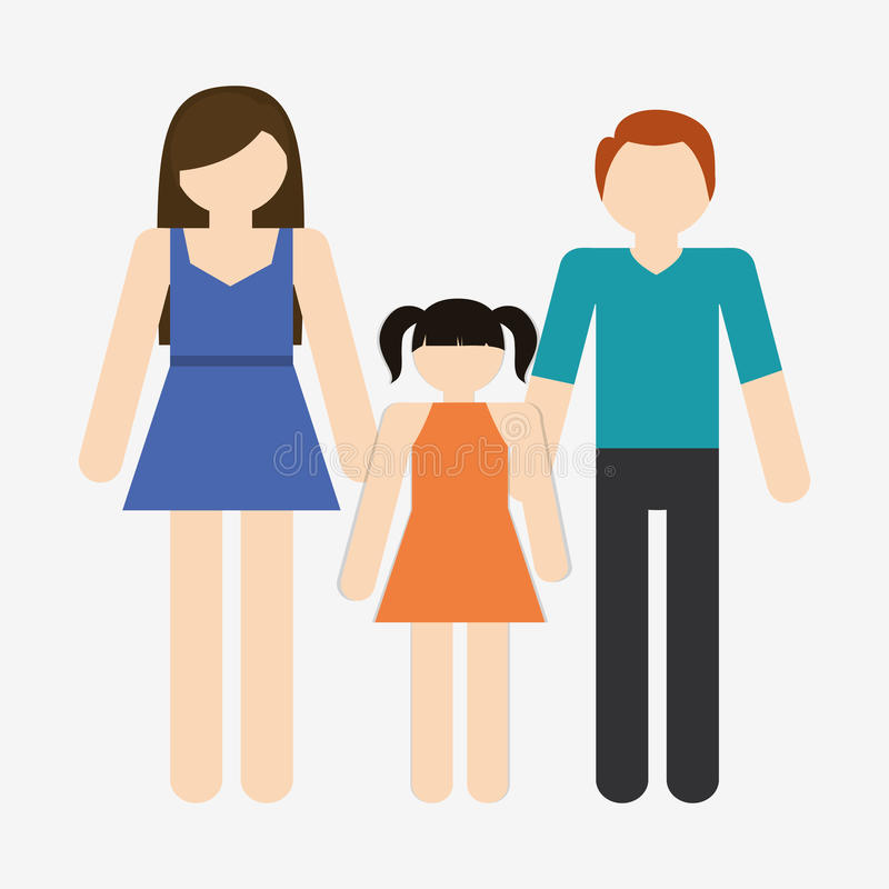 Family icon image. Traditional father mother family icon image illustration design royalty free illustration