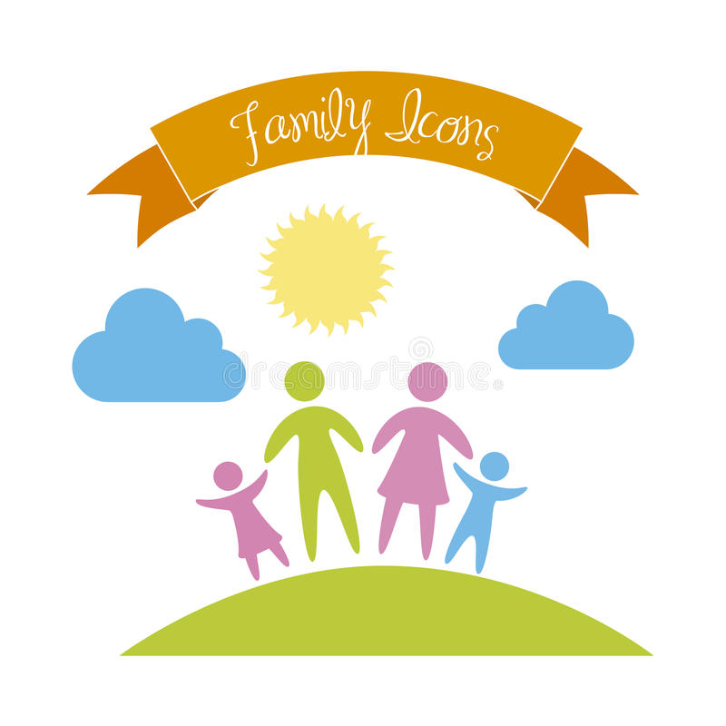 Family icon stock illustration