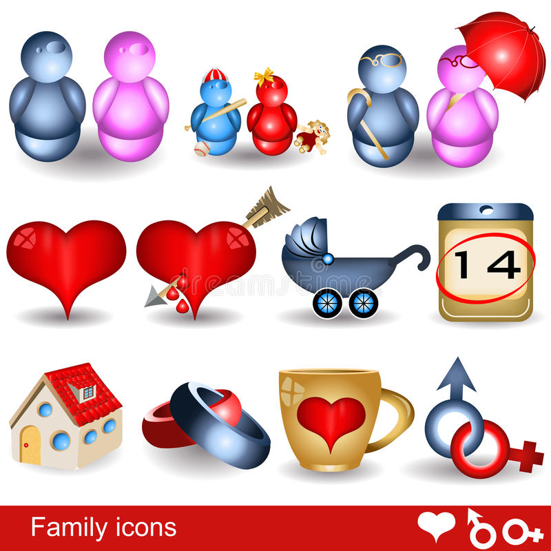 Download Family icons stock vector. Image of calendar, boys, home - 23410879