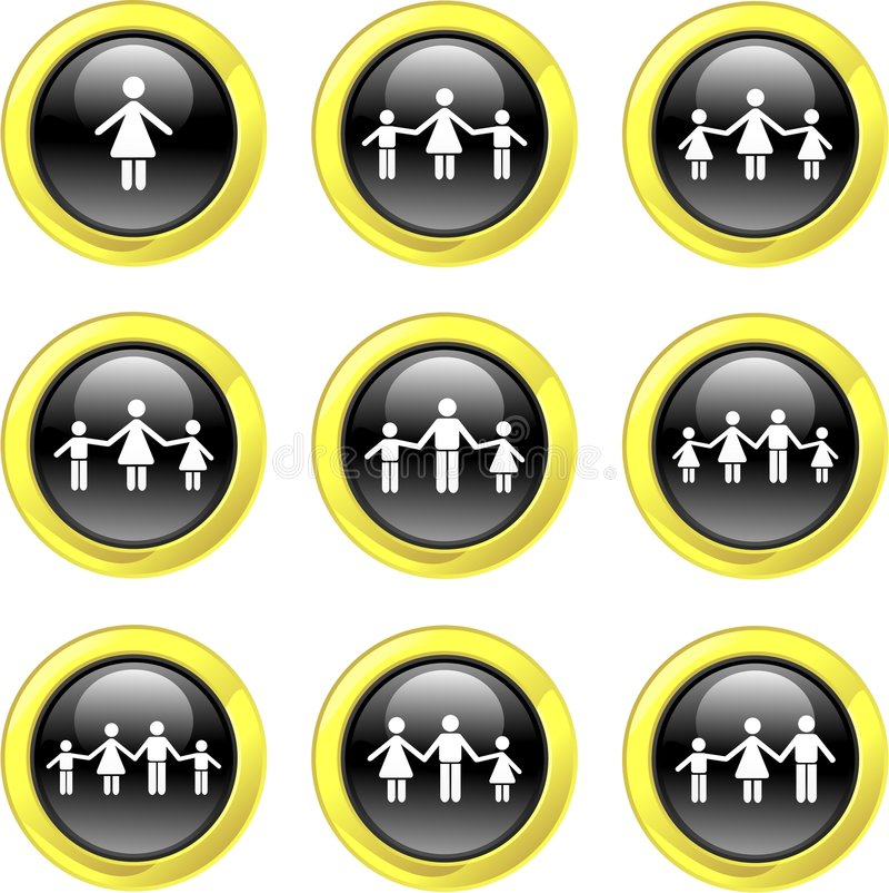 Family icons stock illustration