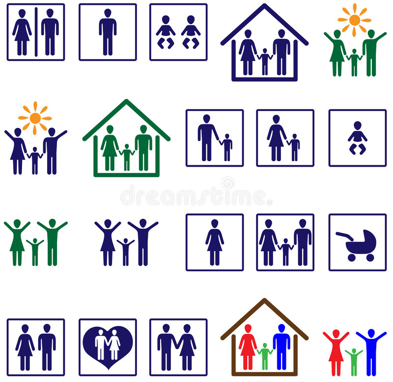 Download Family icons stock vector. Image of mother, affectionate - 8479689