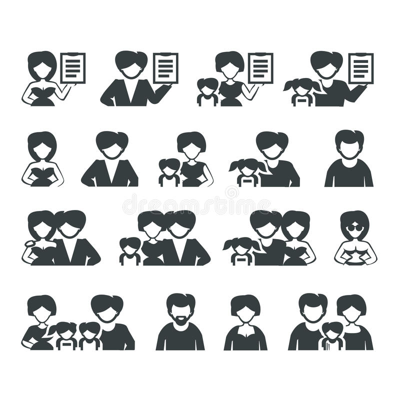 Download Family icons stock vector. Image of grandfather, aunt - 32312685