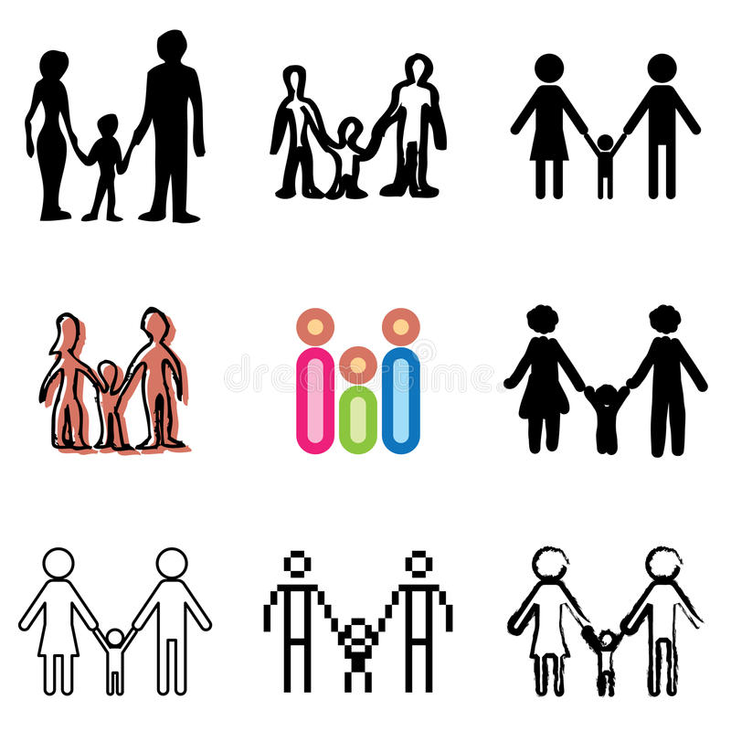 Download Family icons set stock vector. Illustration of care, black - 23872777