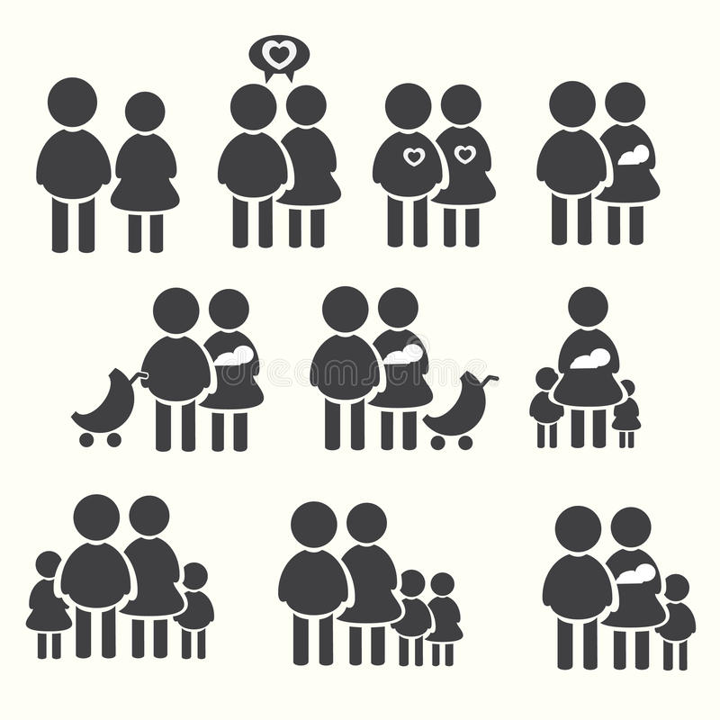 Family icons set, avatar vector vector illustration