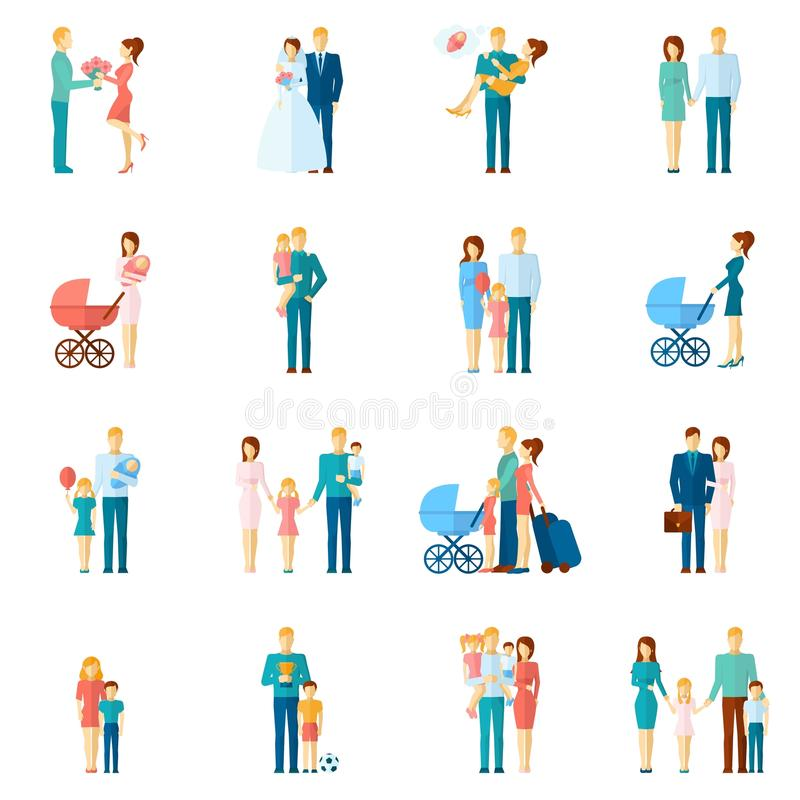 Family Icons Set vector illustration