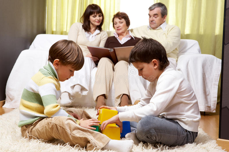Family idyll royalty free stock images
