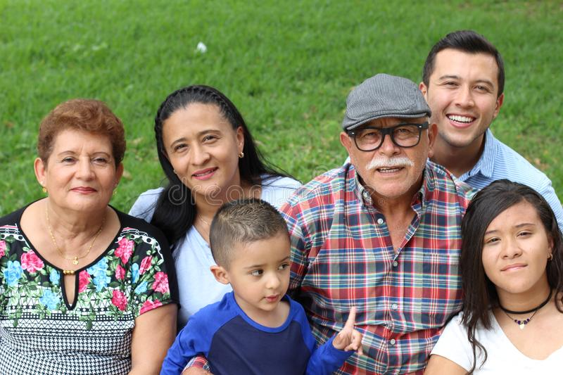 Family of immigrants in the USA.  royalty free stock image
