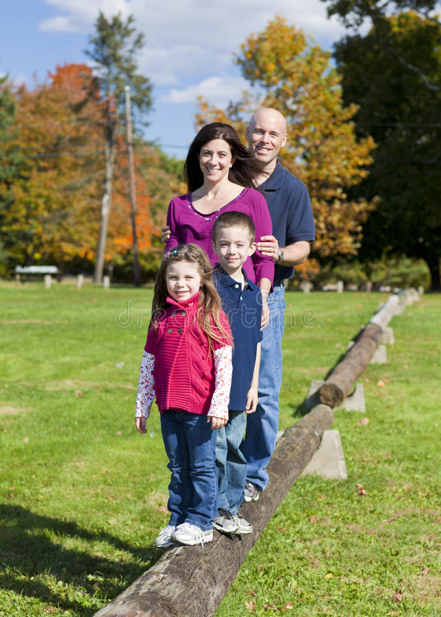 Free Family In Fall Royalty Free Stock Image - 34122556