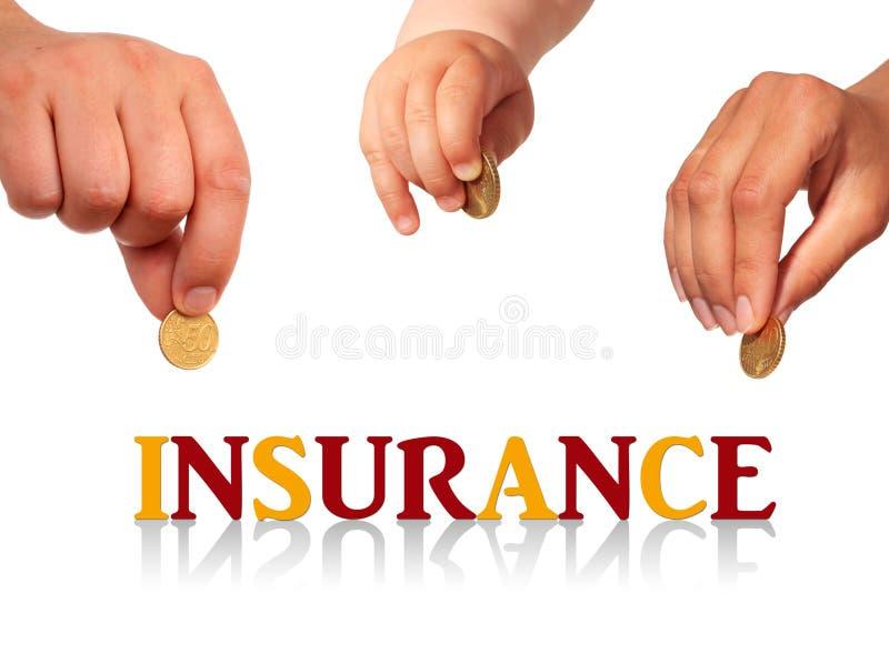 Family insurance. stock photos