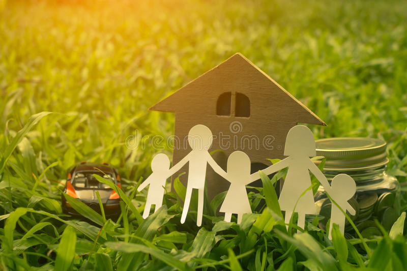 Family keeps money for future children. Family keeps money for future children close up royalty free stock photography