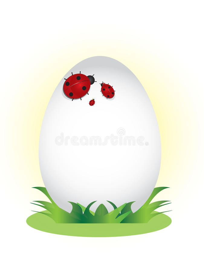 Download Family Of Ladybugs On The Egg. Stock Vector - Illustration: 28852607