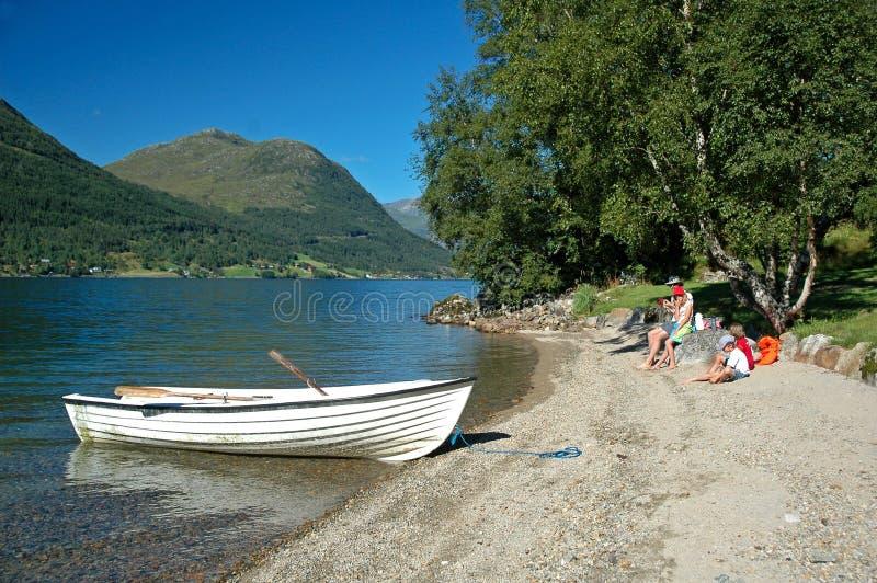 Download Family At Lakeside Having Picnic Stock Photo - Image: 7323590