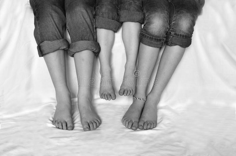 Download Family Legs Bare Feet stock image. Image of adult, parent - 29651311