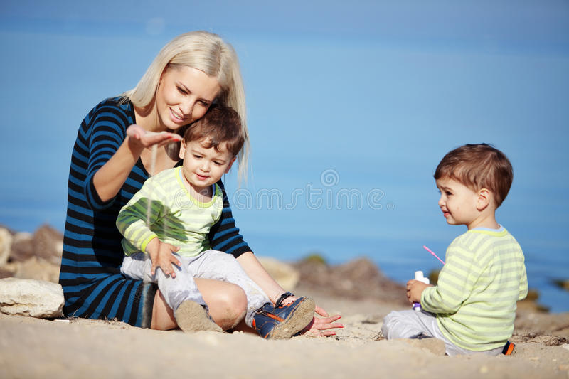 Download Family leisure stock photo. Image of generation, beach - 17191656