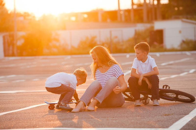 Family leisure outdoors concept royalty free stock photo