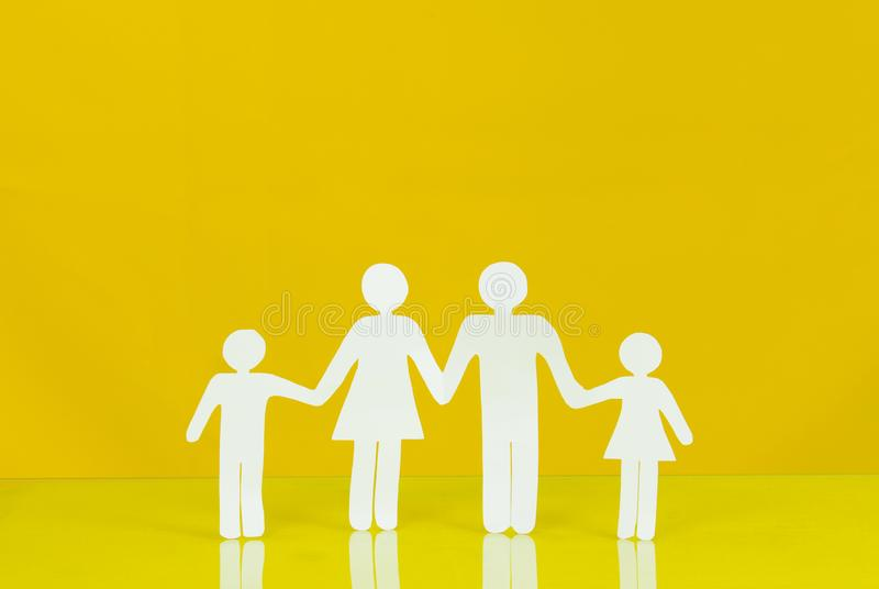 Family life insurance, protecting family, family concepts. stock photography