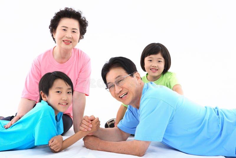 Family Life V. Asian Ethnicity stock image