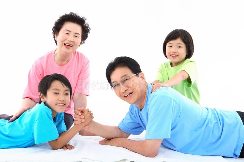 Family Life V. Asian Ethnicity royalty free stock photos