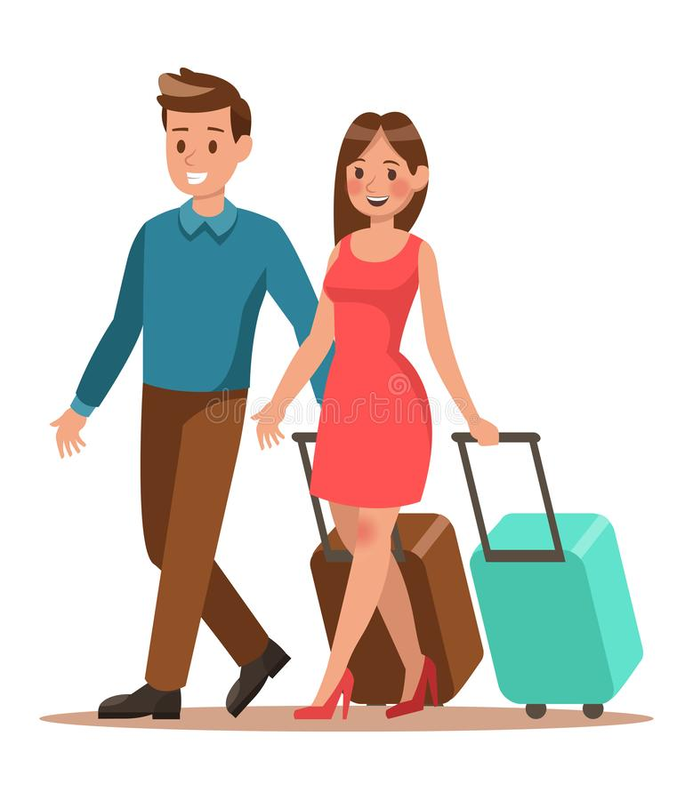 Free Family Lifestyle. Family Travel Time. Happy Family Go To Travel. Vector Illustration Design. No3 Stock Image - 134175111