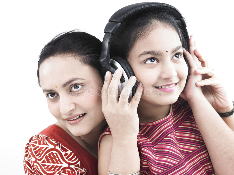Family Listening To Music Royalty Free Stock Photos