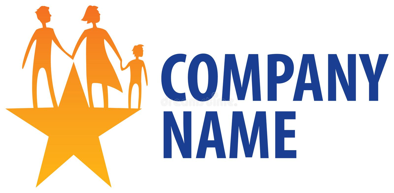 Family Logo royalty free illustration