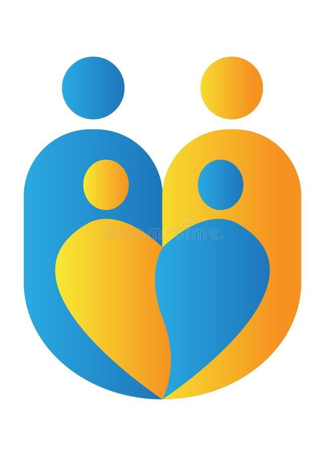 Family logo. Illustration of family logo design isolated on white background stock illustration