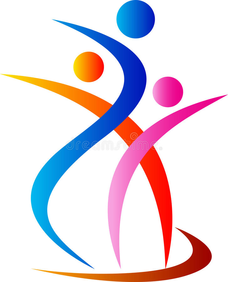 Family logo. Illustration of family logo design isolated on white background