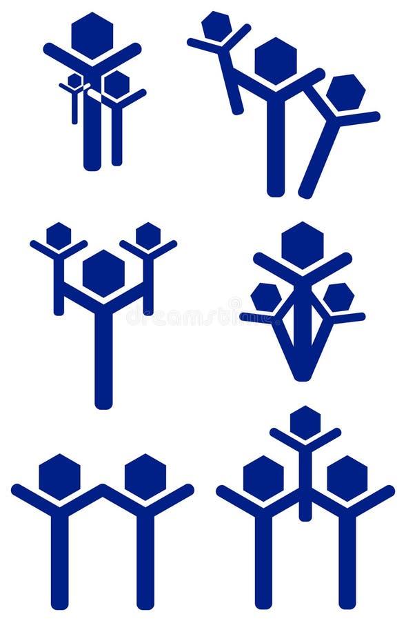 Family Logo Set Royalty Free Stock Photo