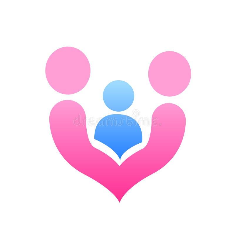 Family love design logo vector royalty free illustration