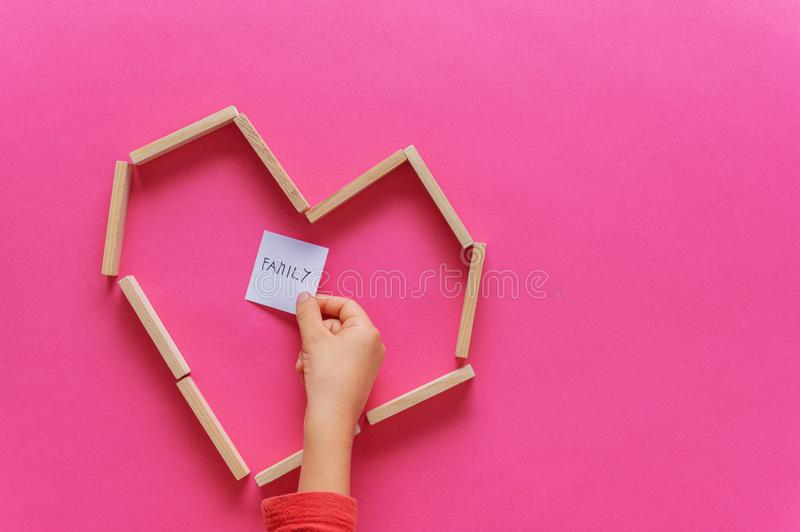 Family love and unity concept stock photography