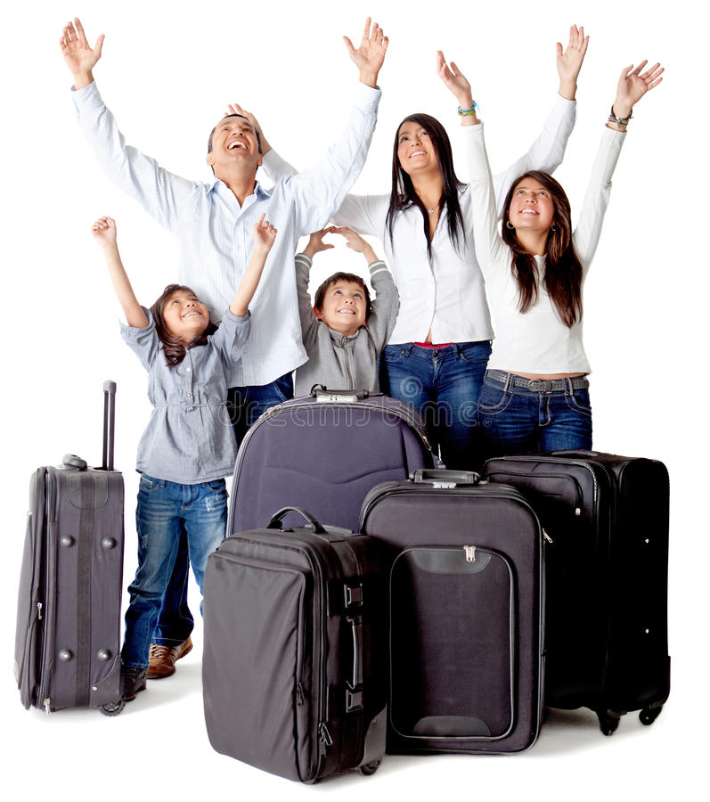 Family with luggage
