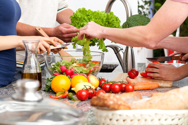 Family lunch royalty free stock images