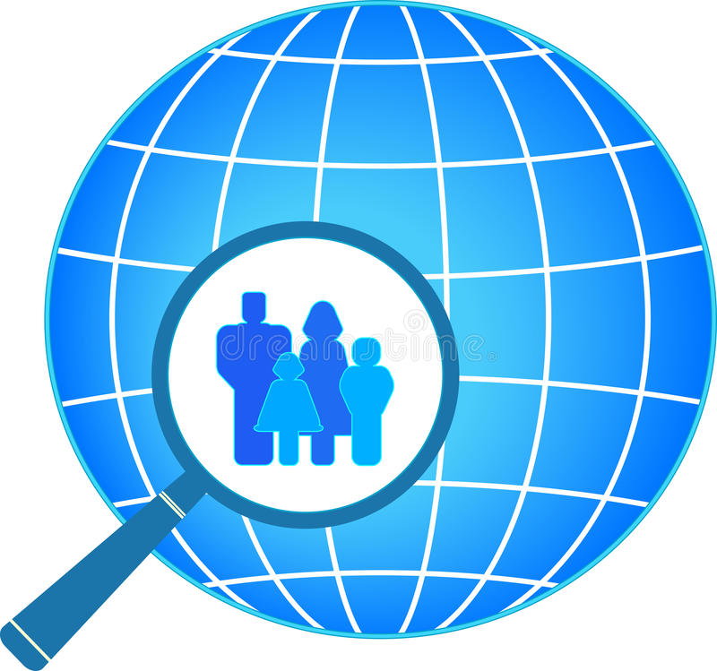Download Family In Magnifier On Planet Background Stock Vector - Illustration of magnifier, parent: 23542898