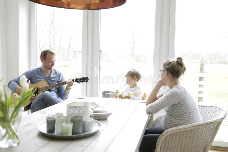 Family makes music royalty free stock photo