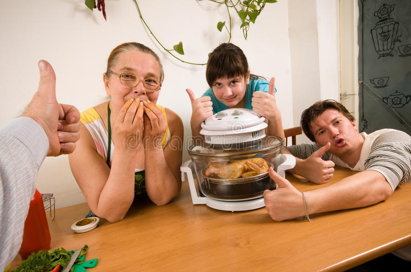 Download The Family Makes A Supper. Stock Photos - Image: 13056213