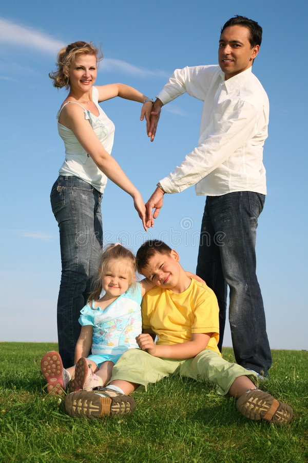 Family Making Heart Royalty Free Stock Images