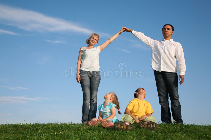Family making house royalty free stock images