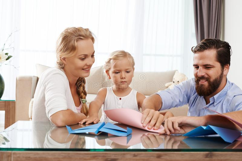 Family spending time together royalty free stock image