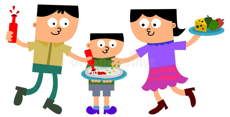 Download Family making pizza stock illustration. Illustration of teamwork - 26614645
