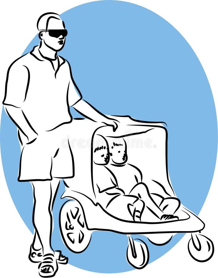 Family Man royalty free illustration