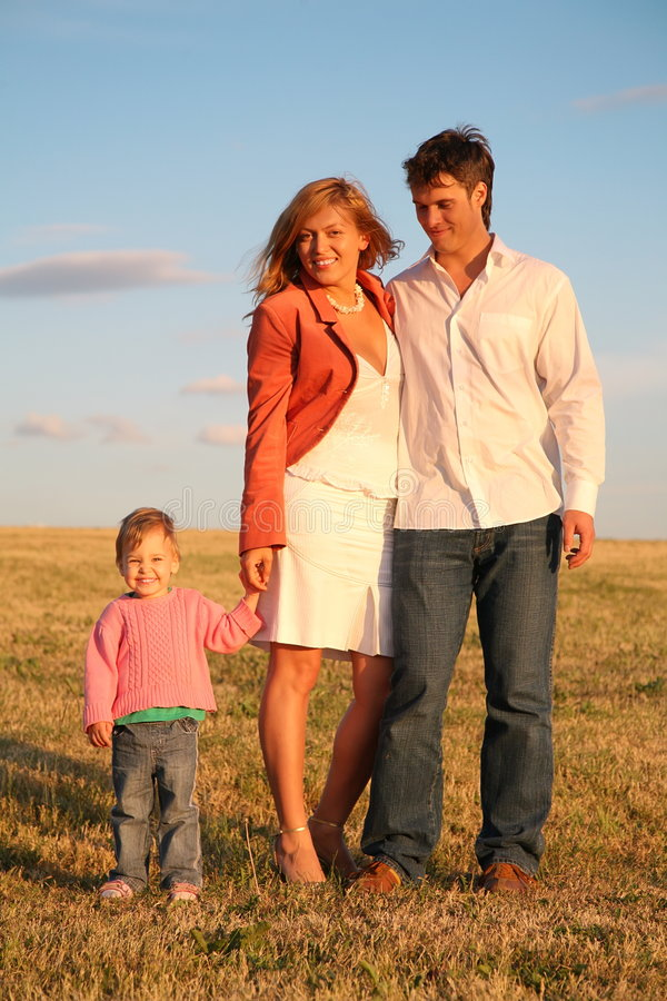 Download Family on the meadow stock image. Image of healthy, adult - 2728597