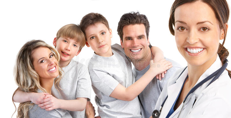 Family medical doctor royalty free stock photos
