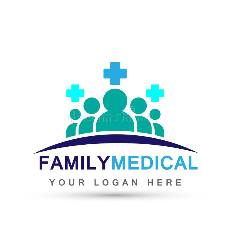 Family medical health care cross symbol icon design vector on white background. In ai 10 illustrations for company or any type design vector illustration