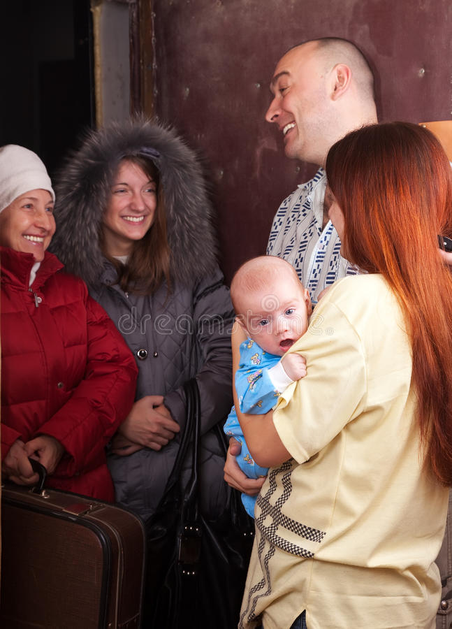 Download Family  Is Meeting A Kinsfolk Stock Image - Image: 20838055