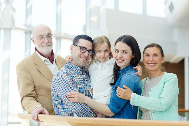 Family members royalty free stock photography
