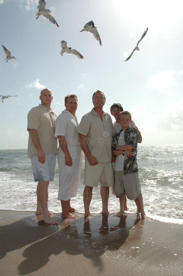 Family of Men royalty free stock image
