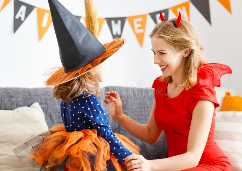 Perfect Download Family Mother And Child Daughter Getting Ready For Halloween,  Stock Image   Image Of