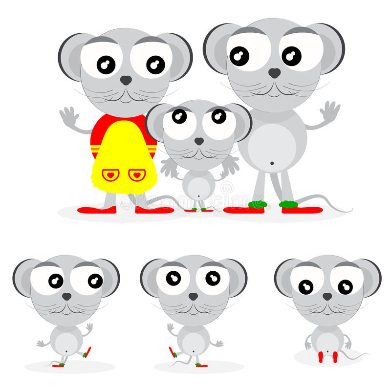 Family of mouses vector illustration